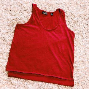 Express Tops - Vintage Express True Red Cotton Tank Top